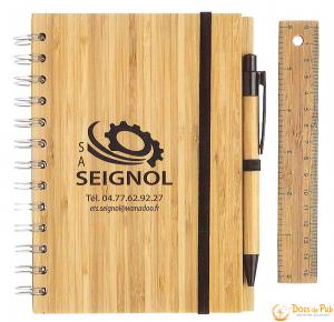 set d'écriture bambou écoproduit