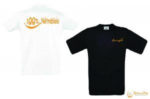 tee-shirt coton marquage sérigraphie