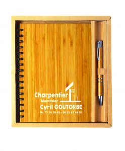 coffret d'écriture bambou écoproduit
