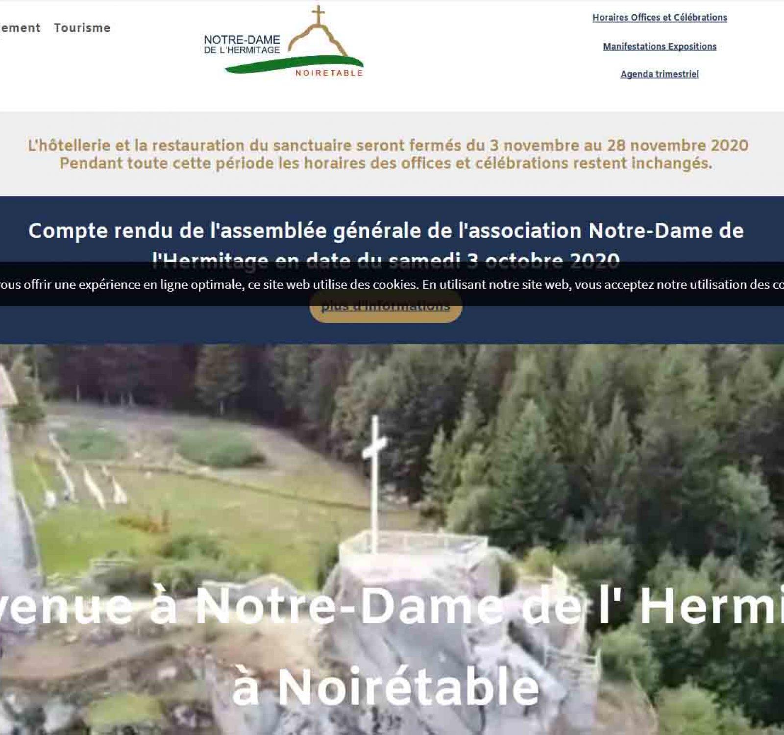 vers le site internet Notre Dame de l'Hermitage à Noirétable