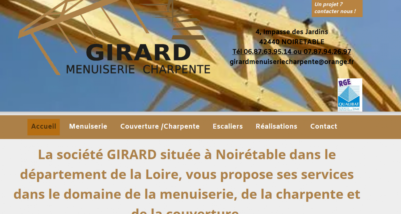 vue site internet création et maintenance menuiserie charpente girard